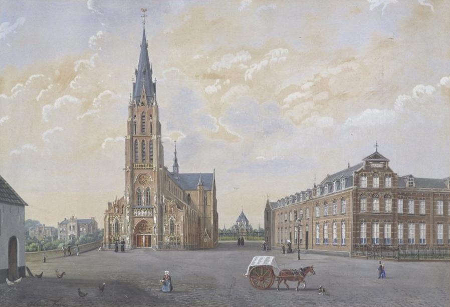 File interieur detail schilderij uit de pastorie van de kerk