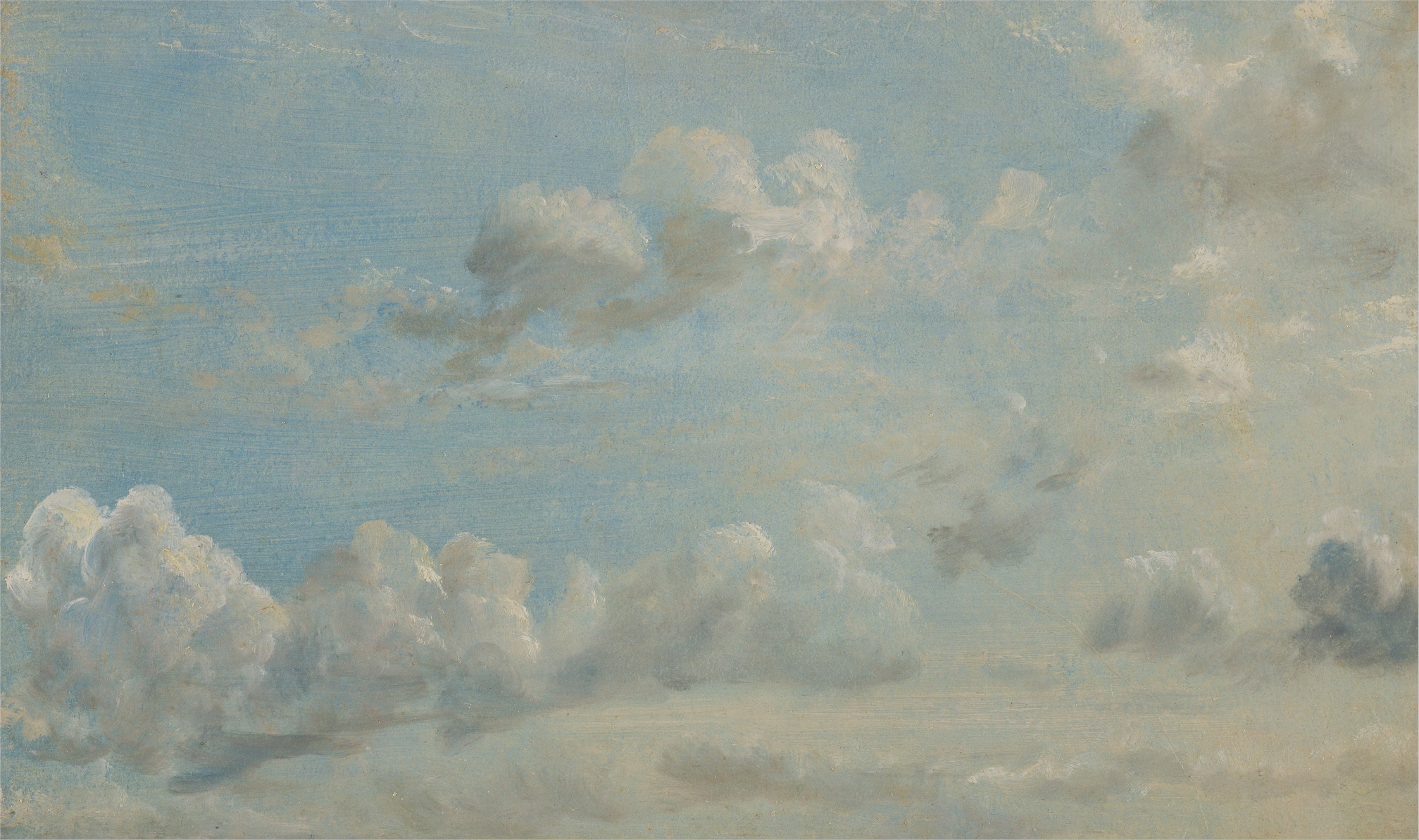 Oil Painting Cloud And Wave Break By F Saileis