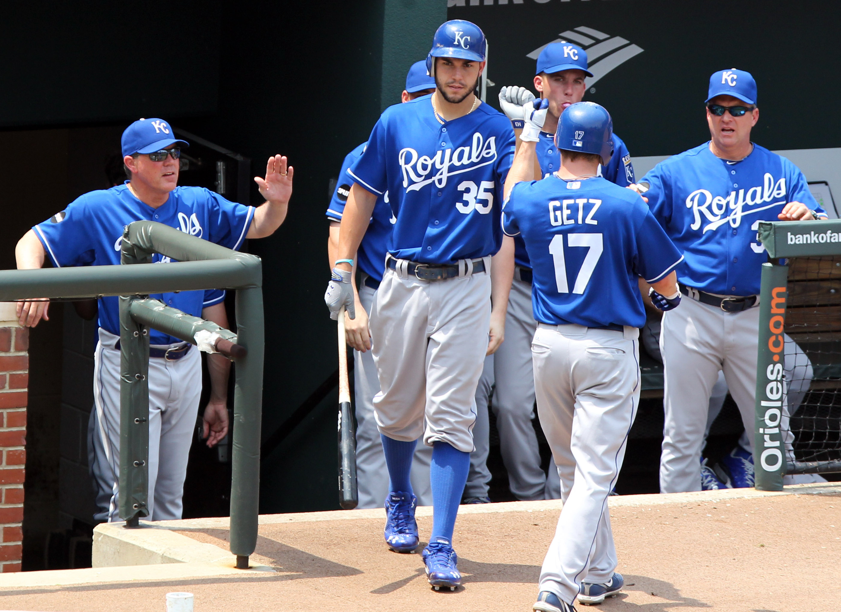 Kansas City Royals players