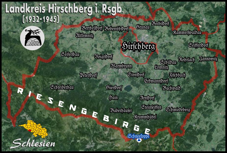 riesengebirge karte Landkreis Hirschberg im Riesengebirge – Wikipedia