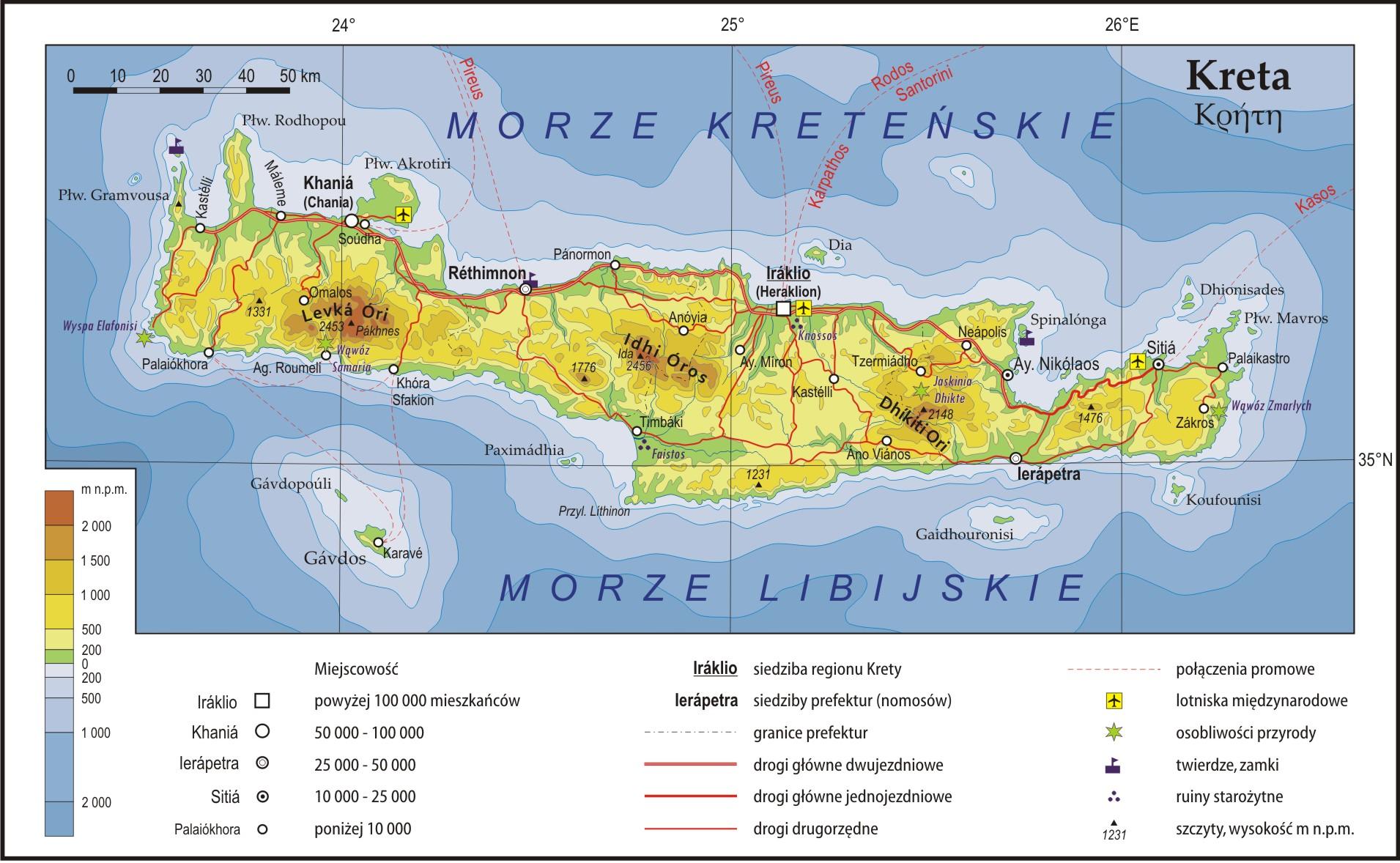 File Kreta Mapa Fizyczna Jpg Wikimedia Commons