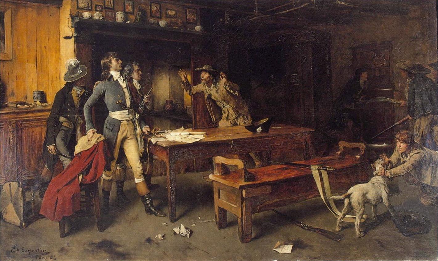 L'alerte, Paris 1884. HST 122 x 174 см (Музей Броэльмюзейм Кортрейк) пар Эварист Carpentier..jpg