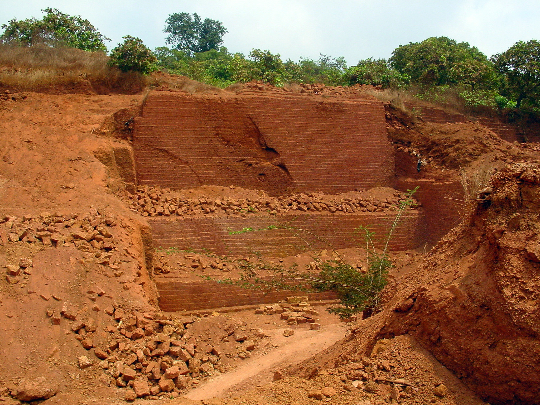 Laterite soil the image kid has it for Soil in india