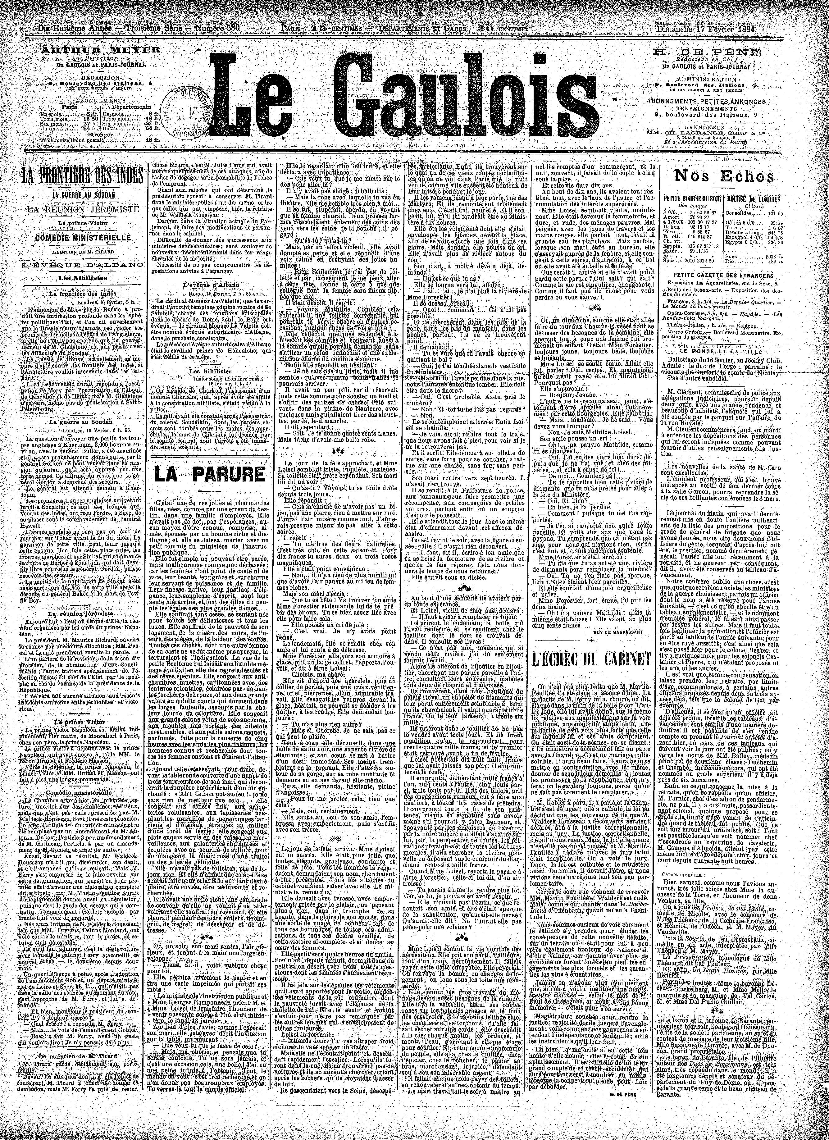 File le gaulois 17 f vrier wikimedia commons - Magazine le journal de la maison ...