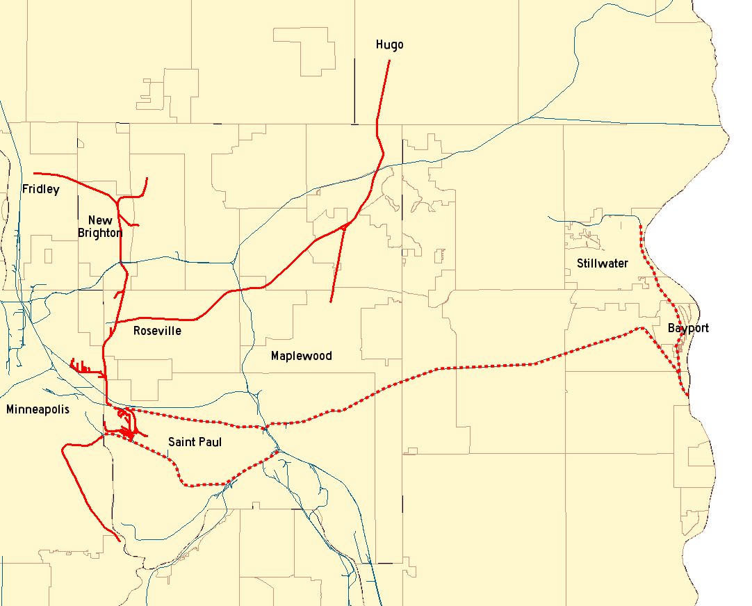 Hugo Minnesota Map.Minnesota Commercial Railway Wikipedia