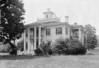 "Choctaw chief Greenwood LeFlore's plantation home, Malmaison, was built in 1852 near Greenwood, Mississippi and was described as a ""palace in the wilderness.""[84]"