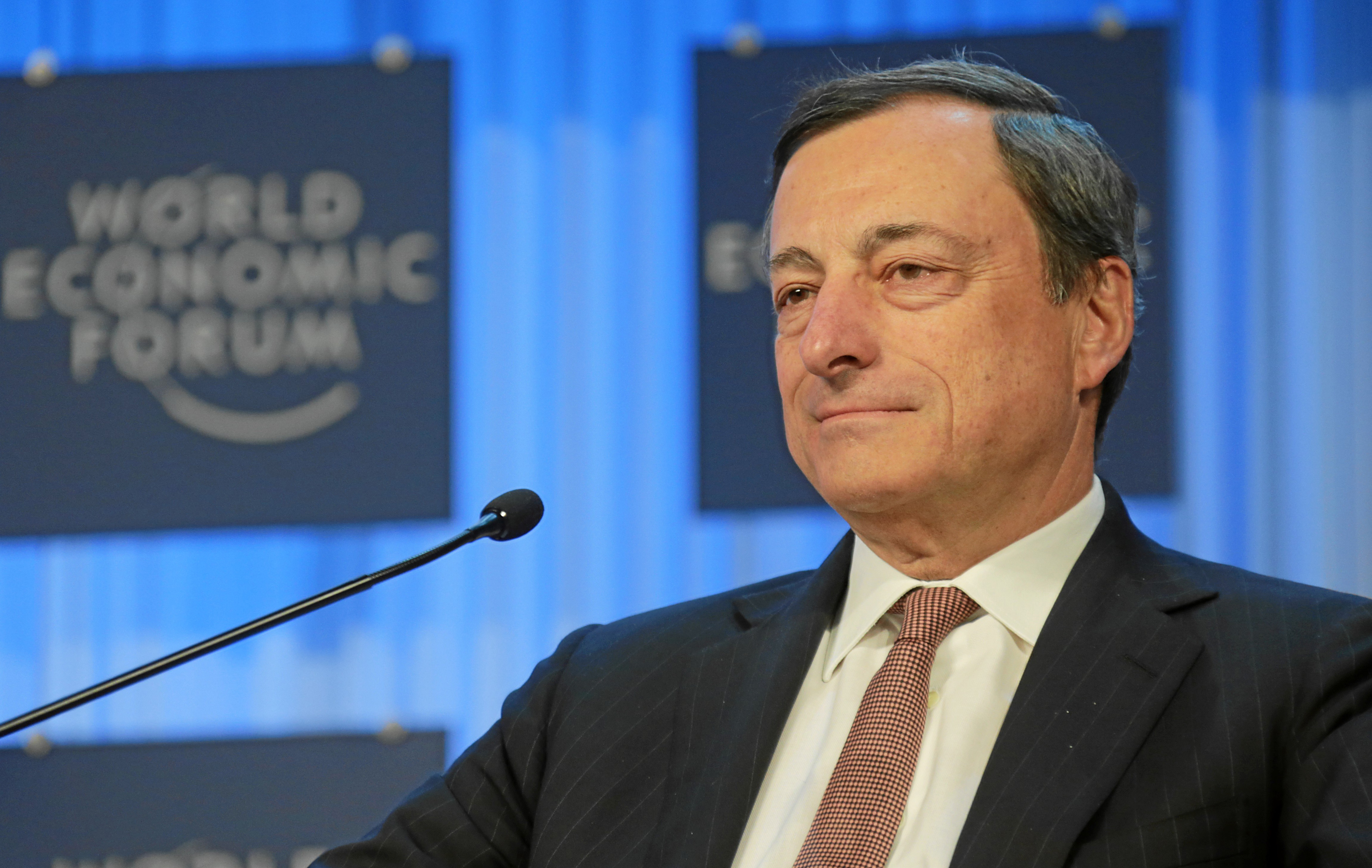 A Frenchman crashing into the English Channel while crossing via hoverboard is the perfect metaphor for the European economy World Economic Forum, Mario Draghi World Economic Forum 2013, CC BY-SA 2.0