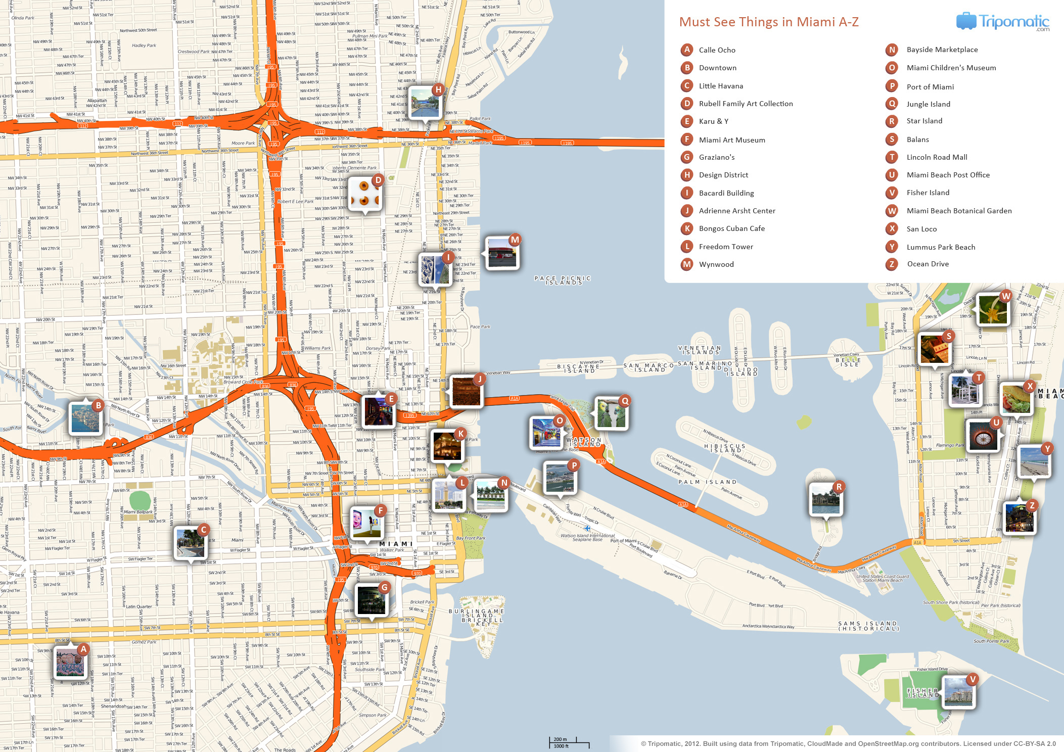 FileMiami printable tourist attractions mapjpg Wikimedia Commons – Miami Tourist Map