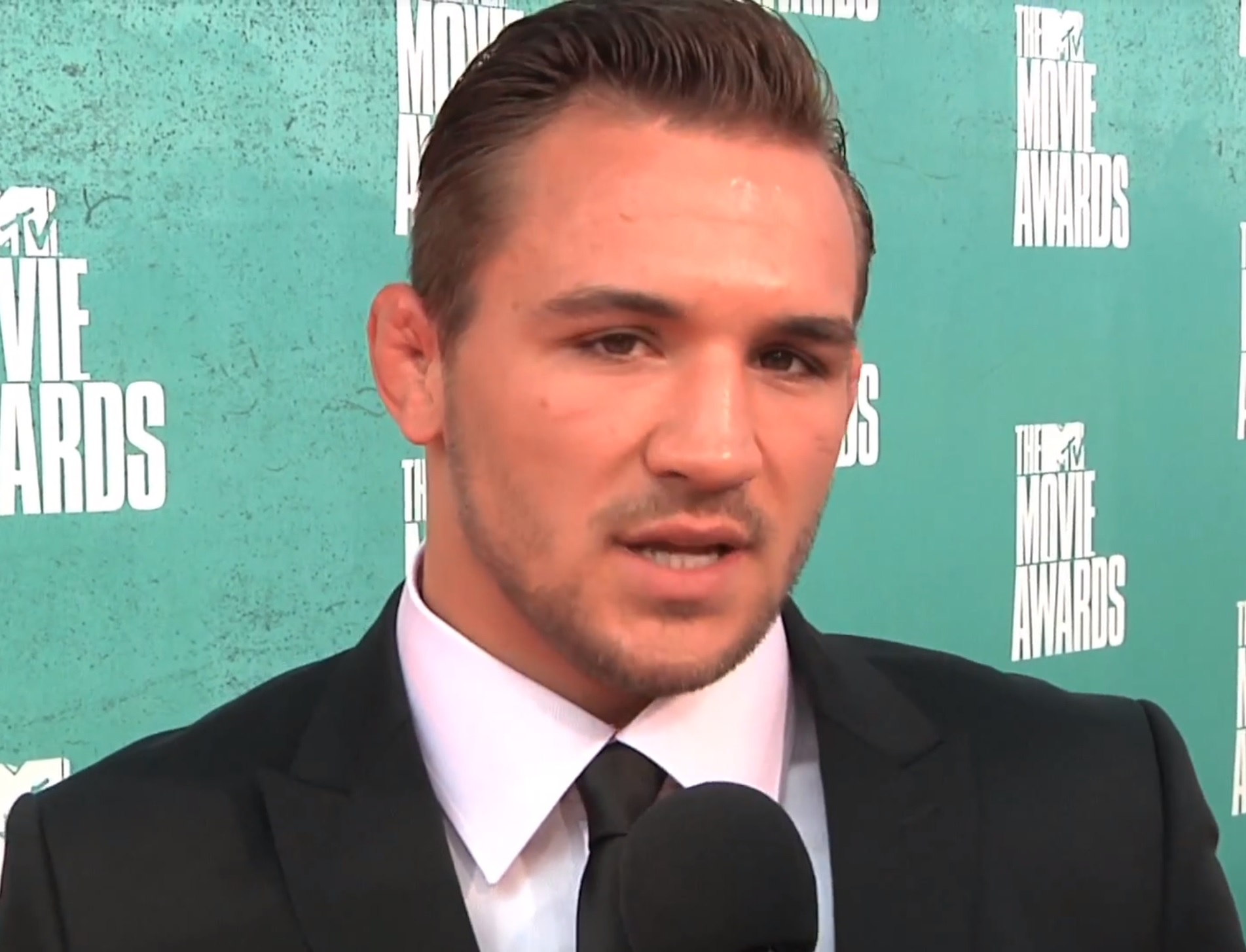 Michael Chandler interviewed at the [[MTV Movie Awards]] in 2012
