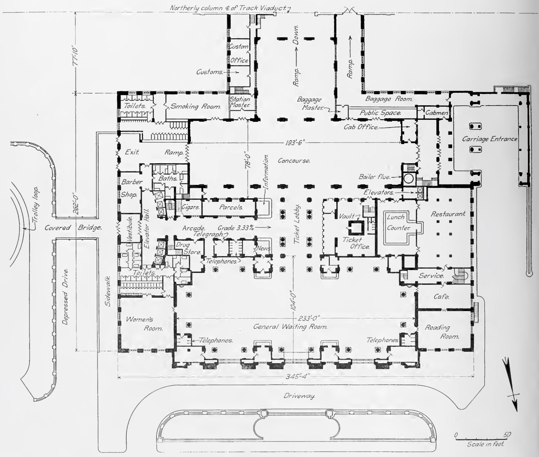 Marvelous Open Floor Plan Viewer Part - 6: File:Michigan Central Station Detroit Floor Plan.jpg