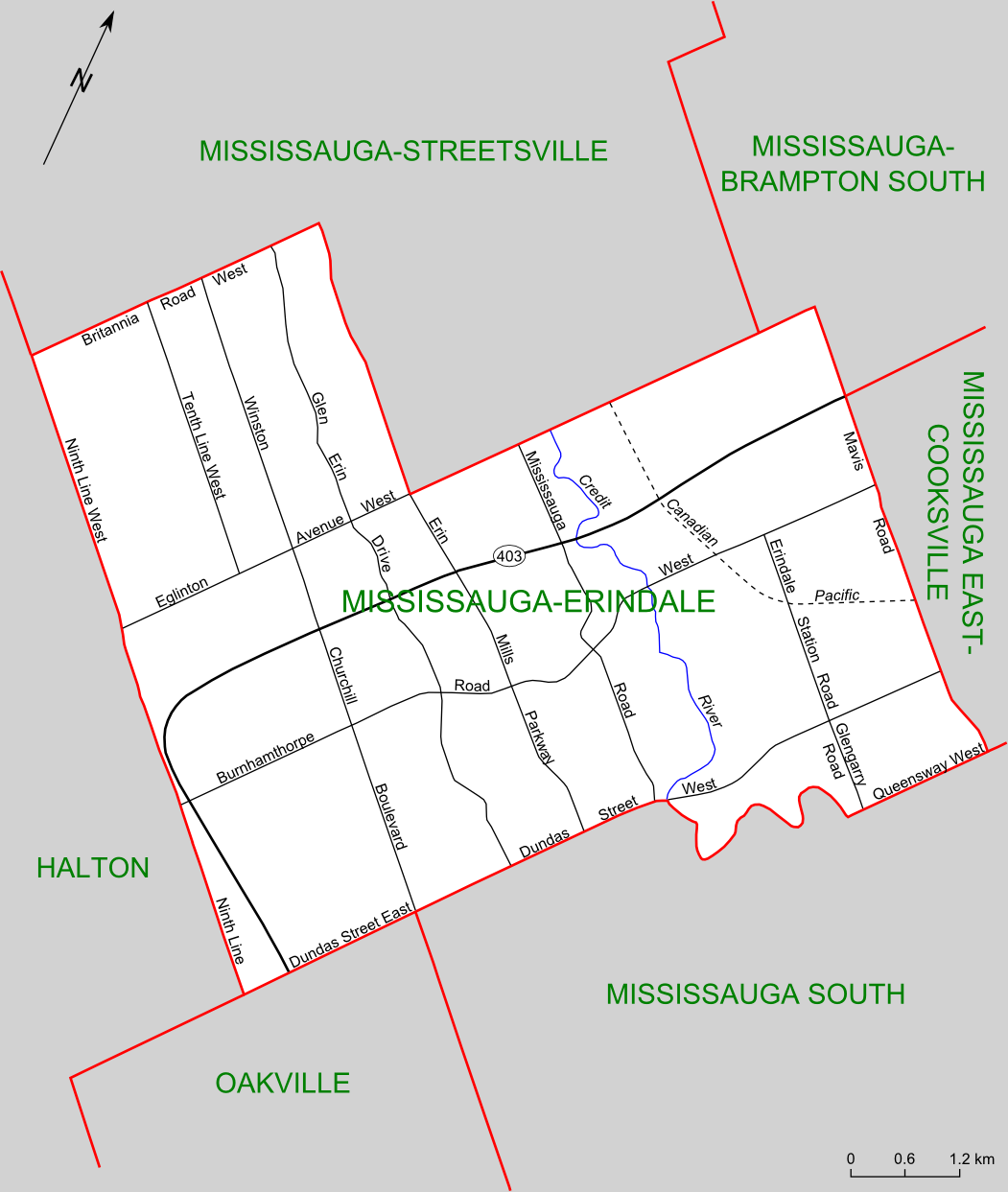 File Mississauga Erindale Riding Map Png Wikimedia Commons