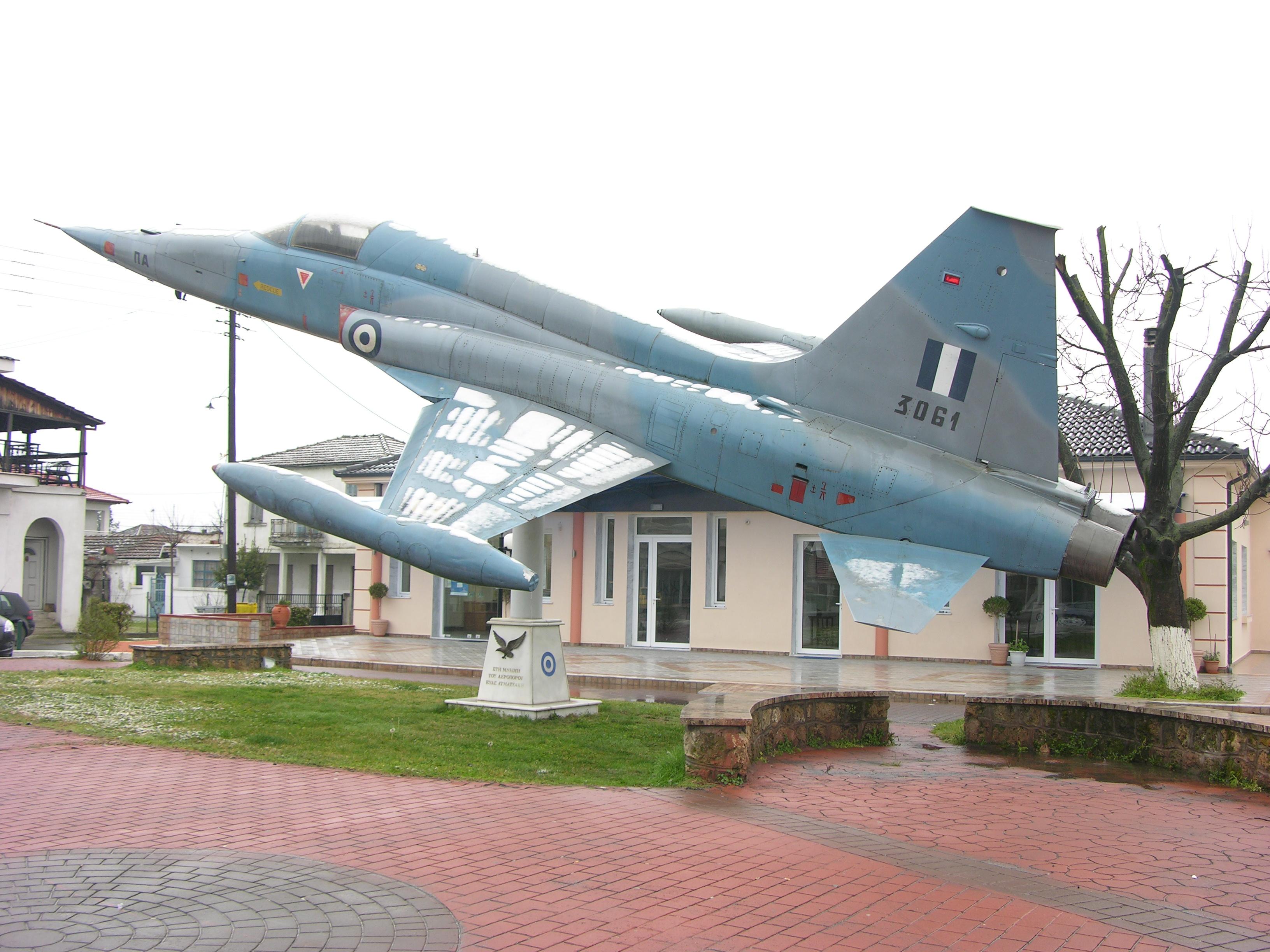 File:NF-5A 3061 at Kariotisa (near Edessa) commemorates an ...