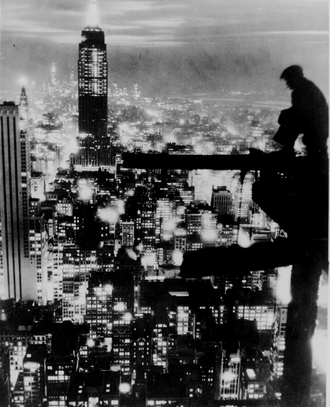 File New York City At Night Ca 1935 Jpg