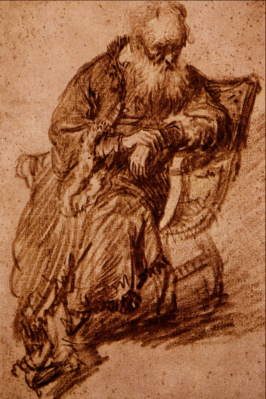 File Old Man Seated In An Armchair Rembrandt Harmenszoon