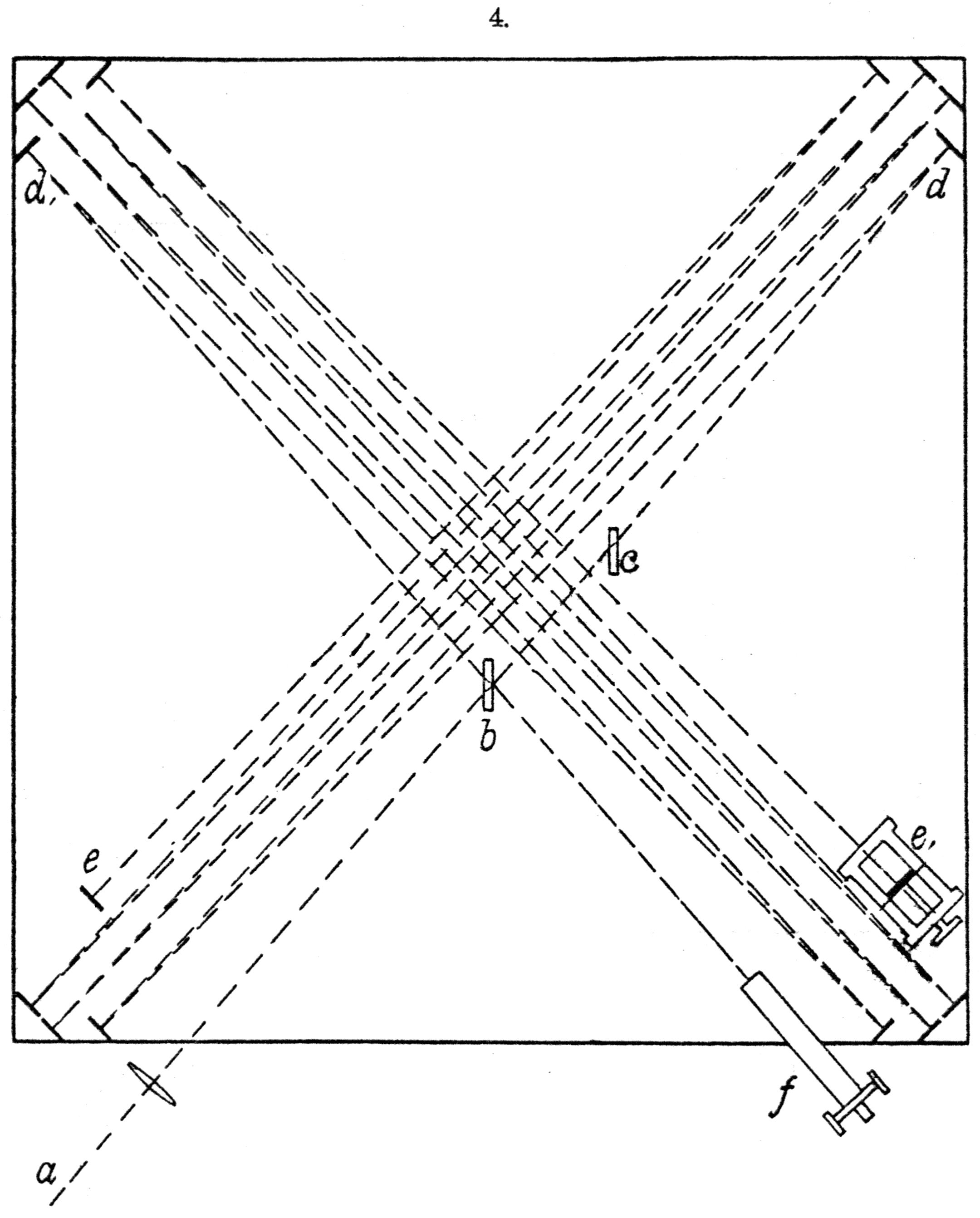 Schemat doświadczenia Michelsona-Morleya
