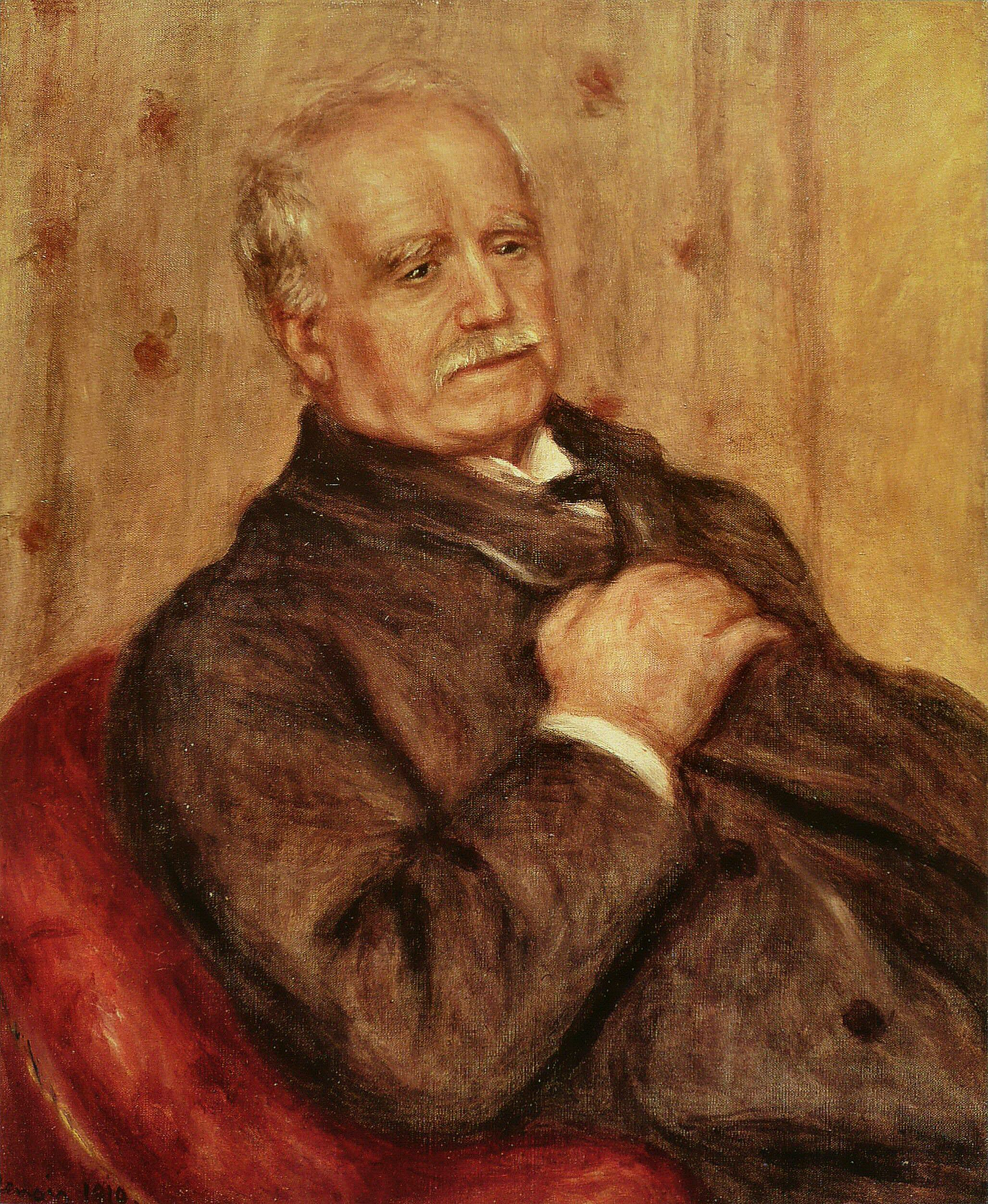 Portrait art dealer Durand-Ruel by Auguste Renoir