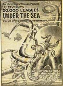 Een reclameposter voor  20,000 Leagues Under the Sea