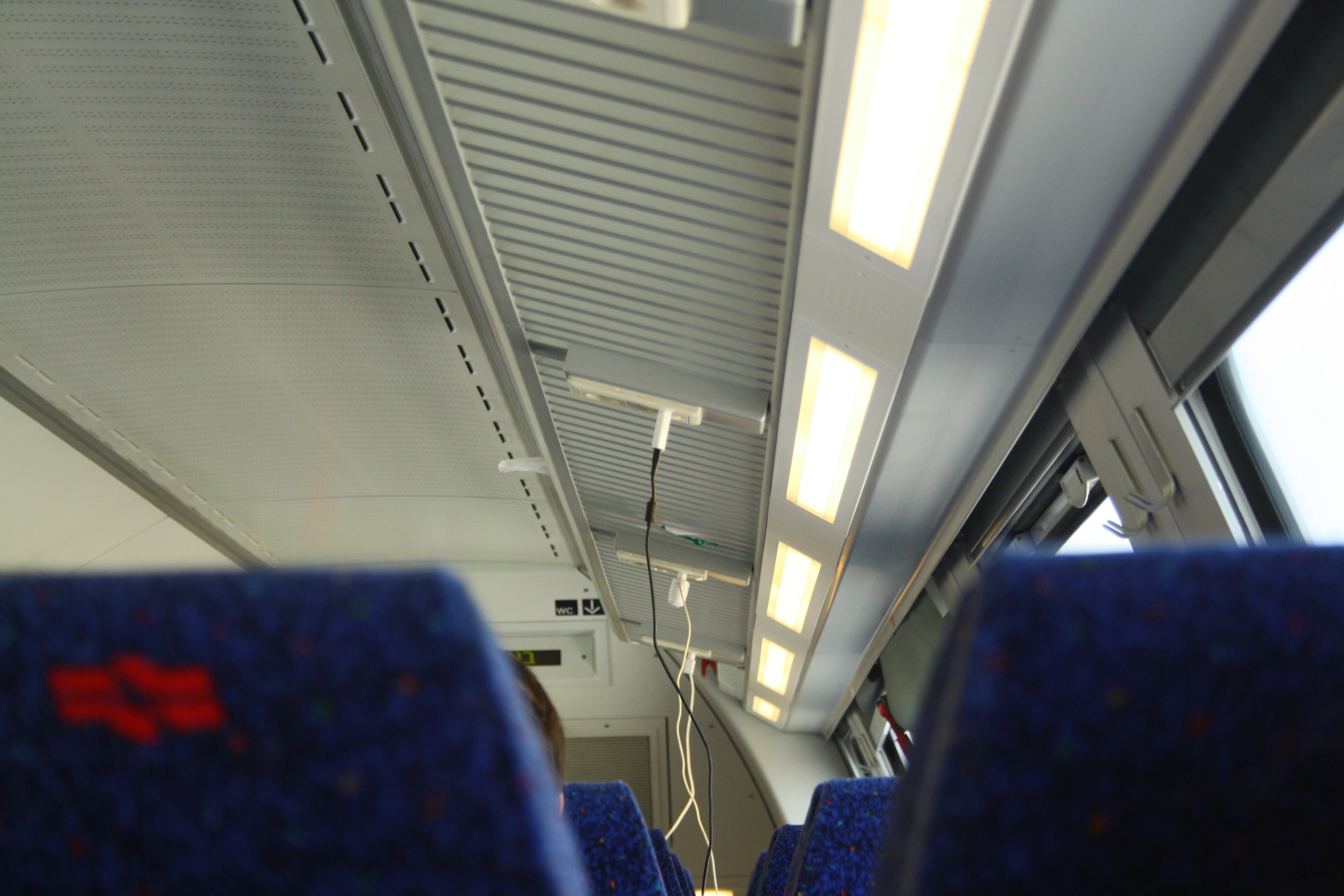 Are there sockets on the trains and where to look for them 22