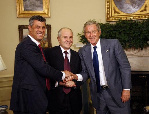 Hashim Thaci Biography Hashim Thaçi Left During