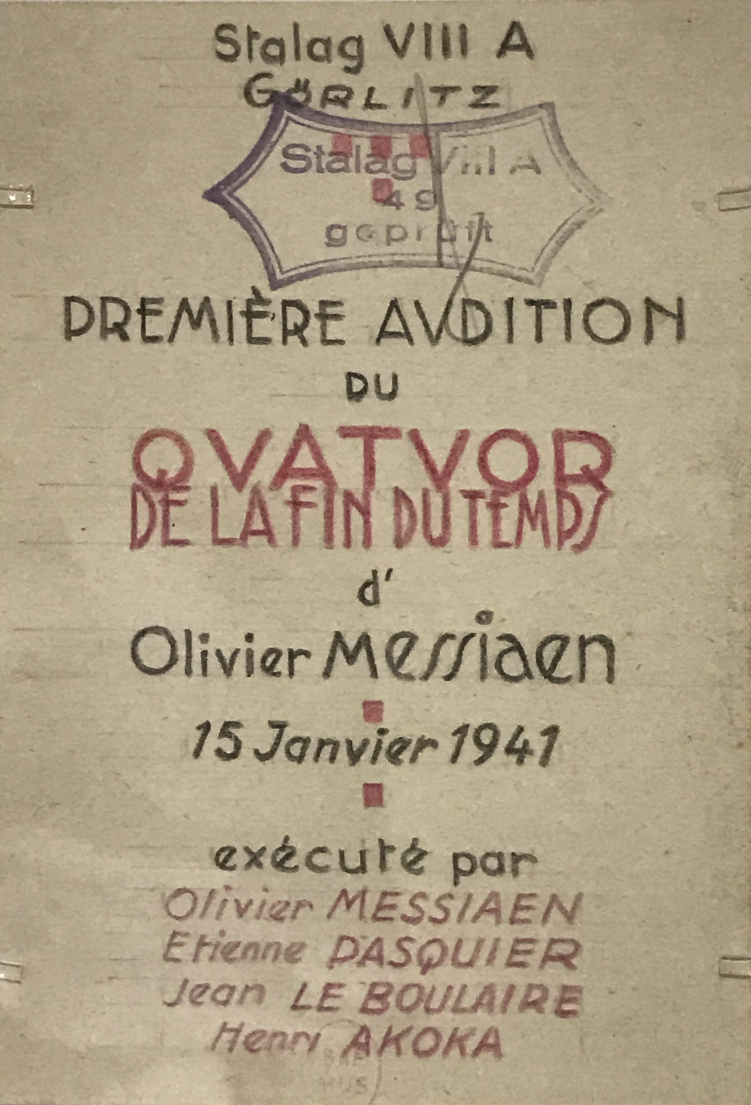Quatuor Pour La Fin Du Temps Wikipedia