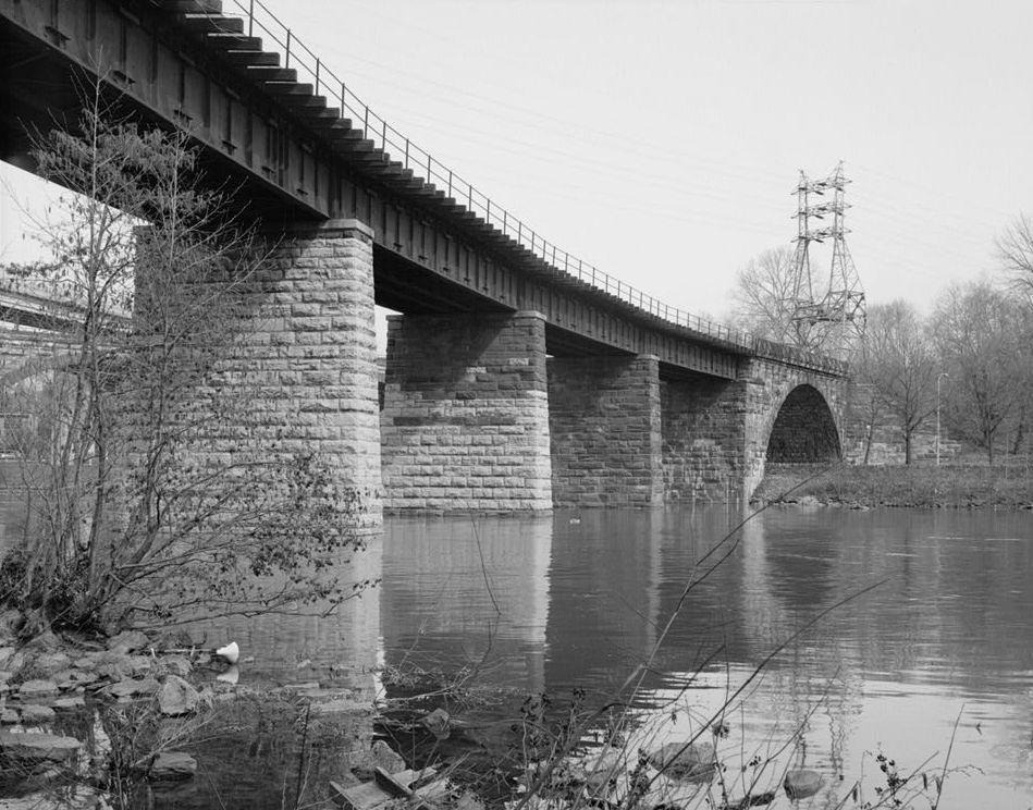 Philadelphia And Reading Railroad Bridge At West Falls