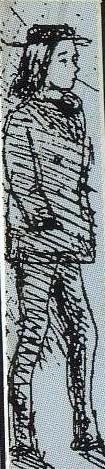 Caricatura de Rimbaud dibujada por Verlaine en 1872.