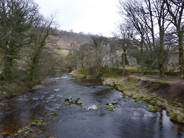 River Skirfare east side of Arncliffe Bridge - geograph.org.uk - 1768609