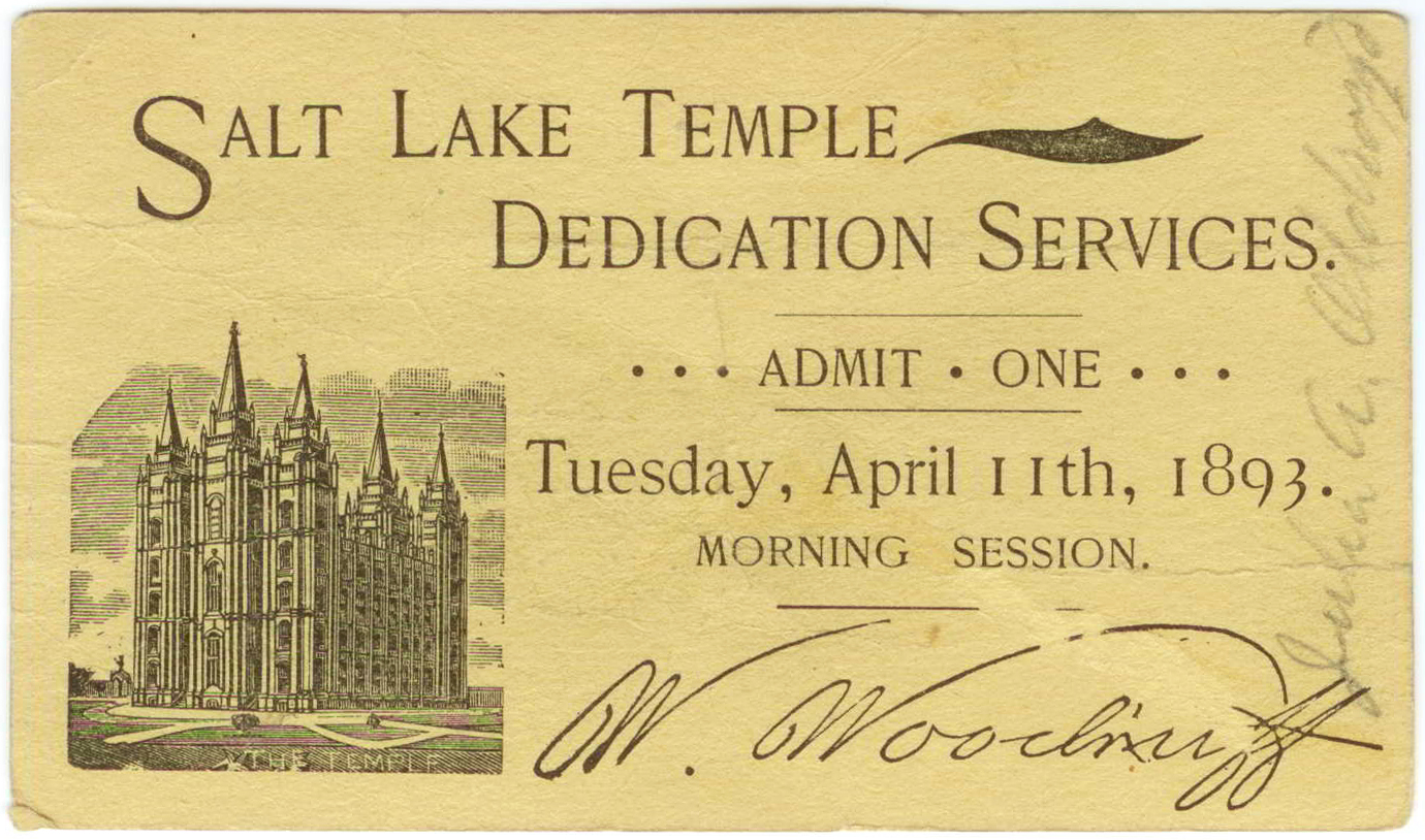 Image result for salt lake temple dedication