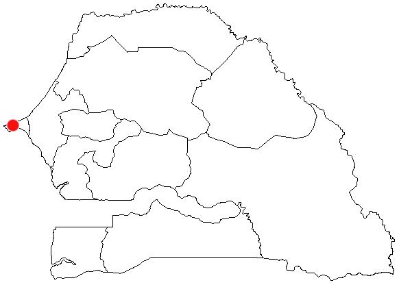Dakar locator map