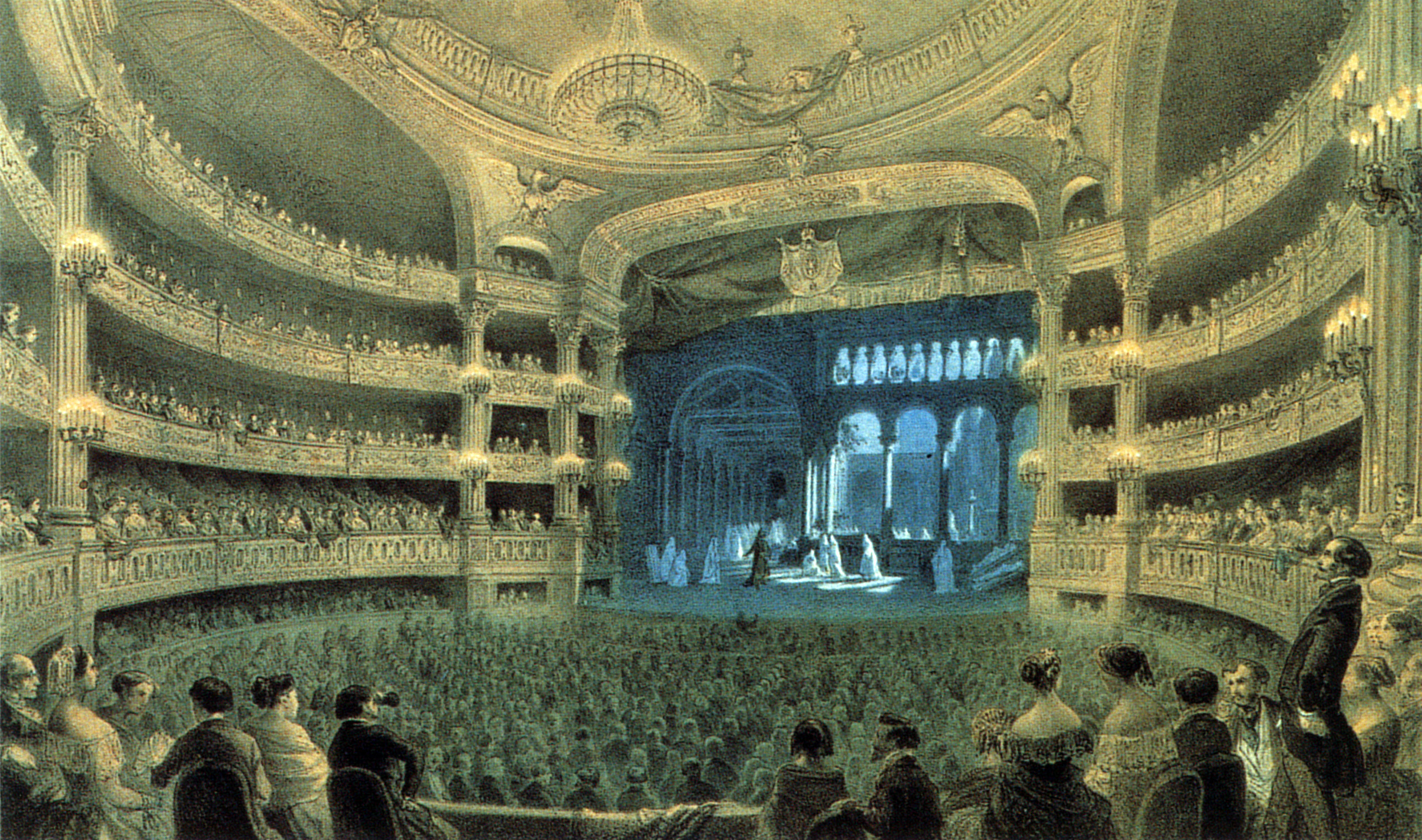 Salle Le Peletier during a performance of 'Robert le diable' - Fontaine 2004 p74.jpg