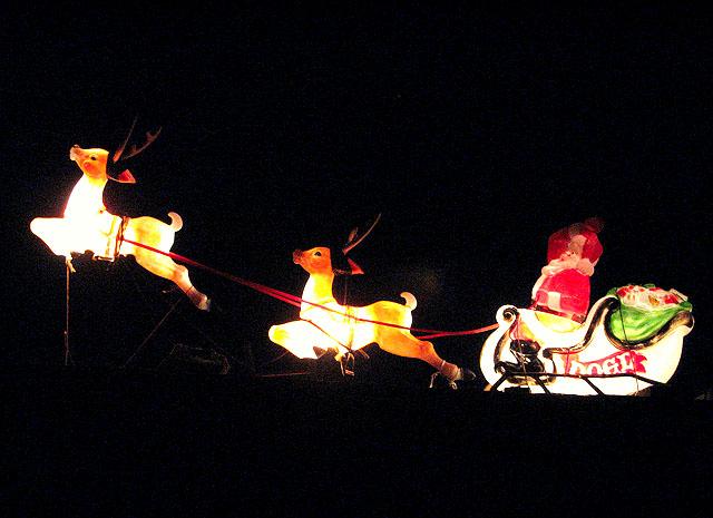 Flying Santa And Moon Christmas Cake