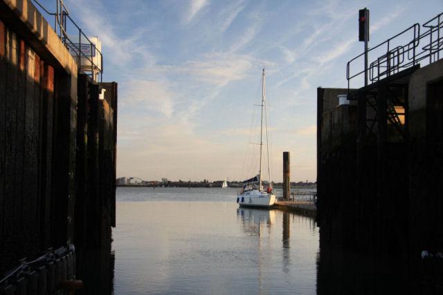 Shotley Marina entrance lock - geograph.org.uk - 1543315