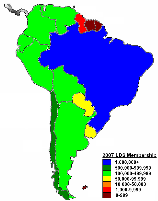 Latin America Statistics Map - South american population map