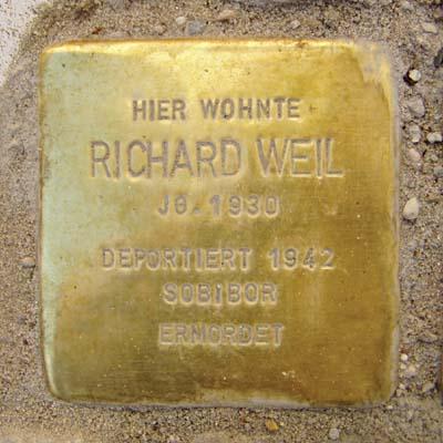 Stolperstein Am Berger Spielhaus 7 Richard Weil