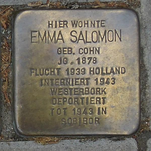 Stolperstein für Emma Salomon