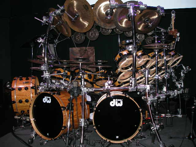 A very large kit played by Drums