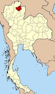 Map of Thailand highlighting Phayao Province}