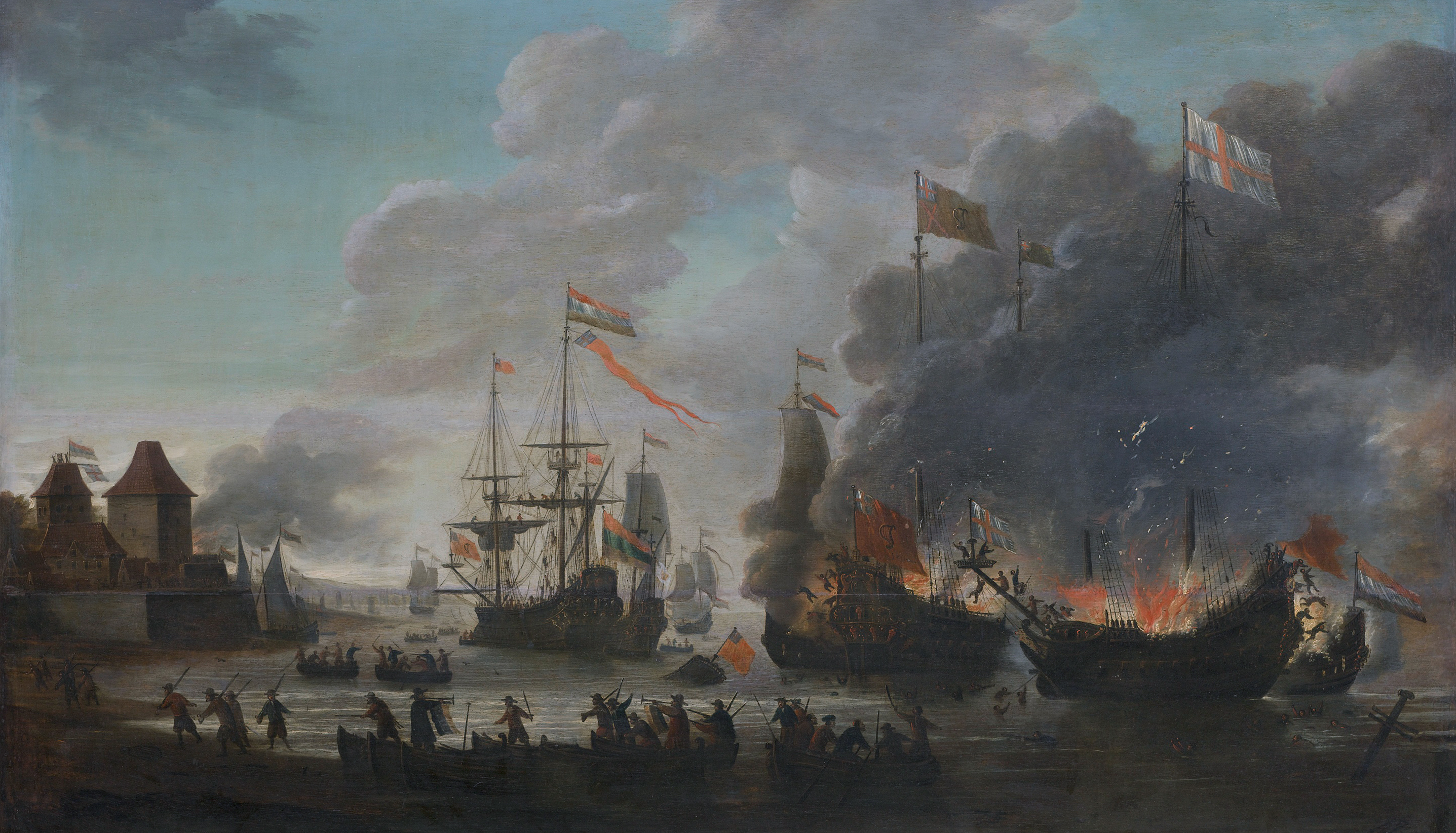 File The Dutch Burn English Ships During The Expedition To