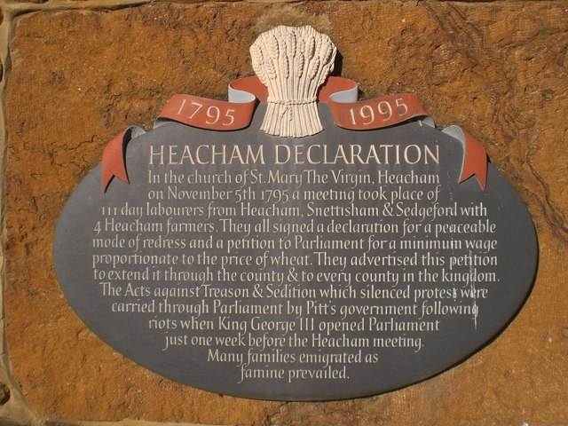 The Heacham Declaration - geograph.org.uk - 574719