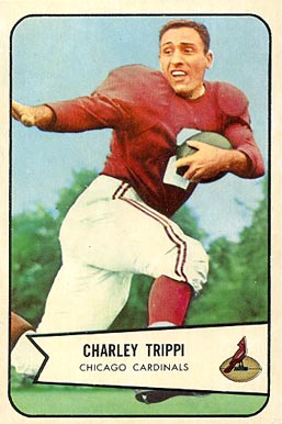 Trippi on a 1954 football card