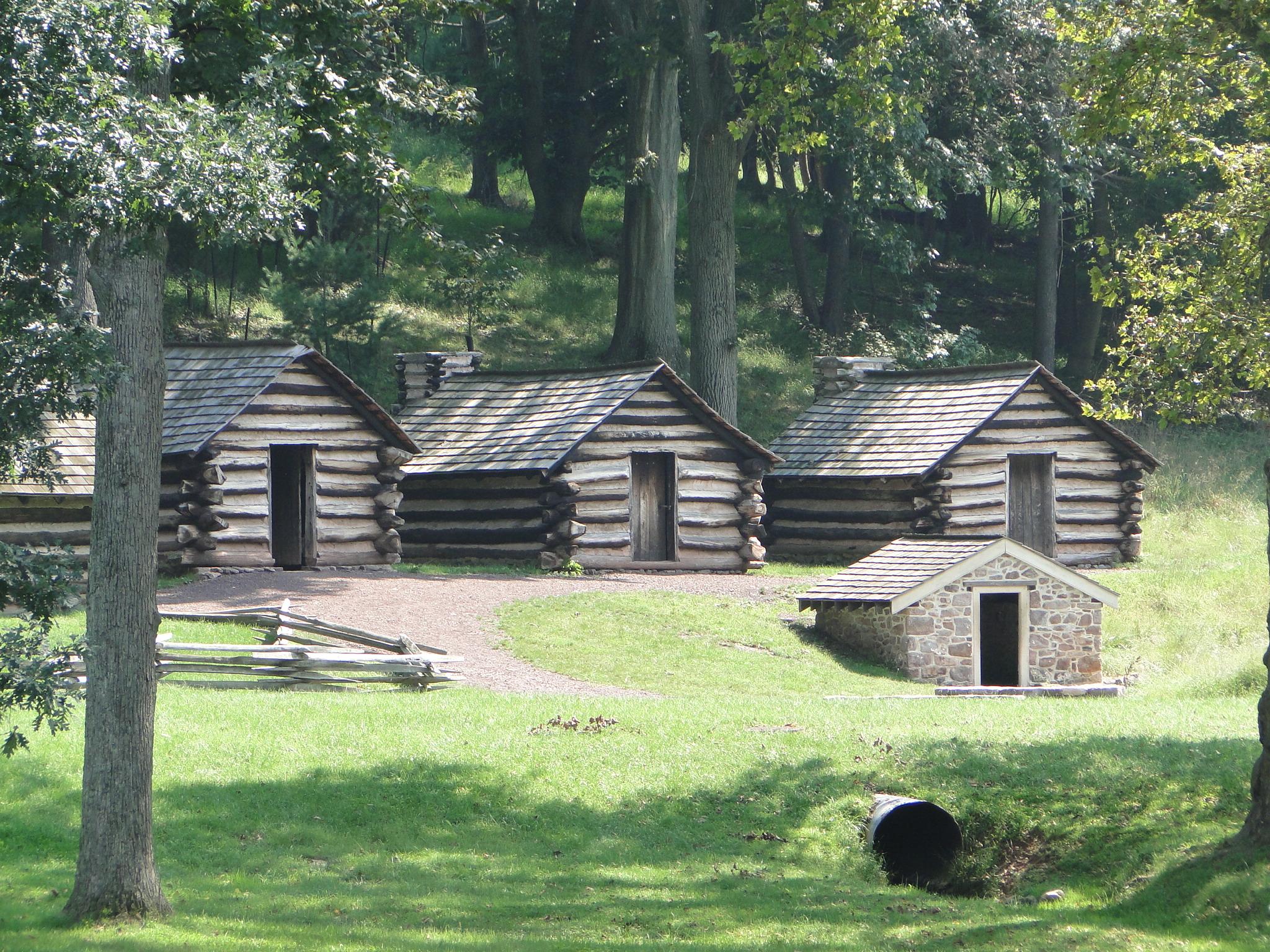 File Valley Forge National Historical Park Log Cabins Jpg