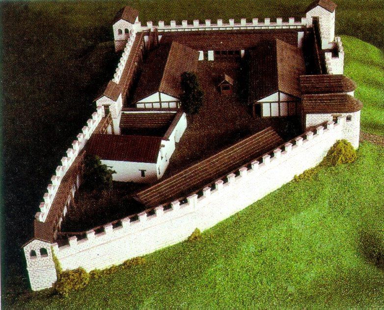 Rekonstruktion des Kastells