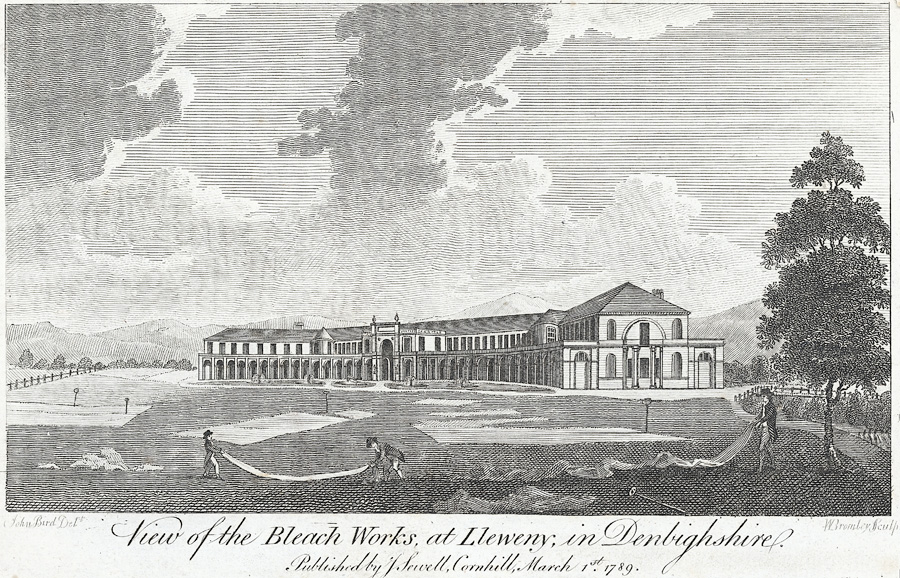 A view of the bleach works, at Lleweny, in Denbighshire
