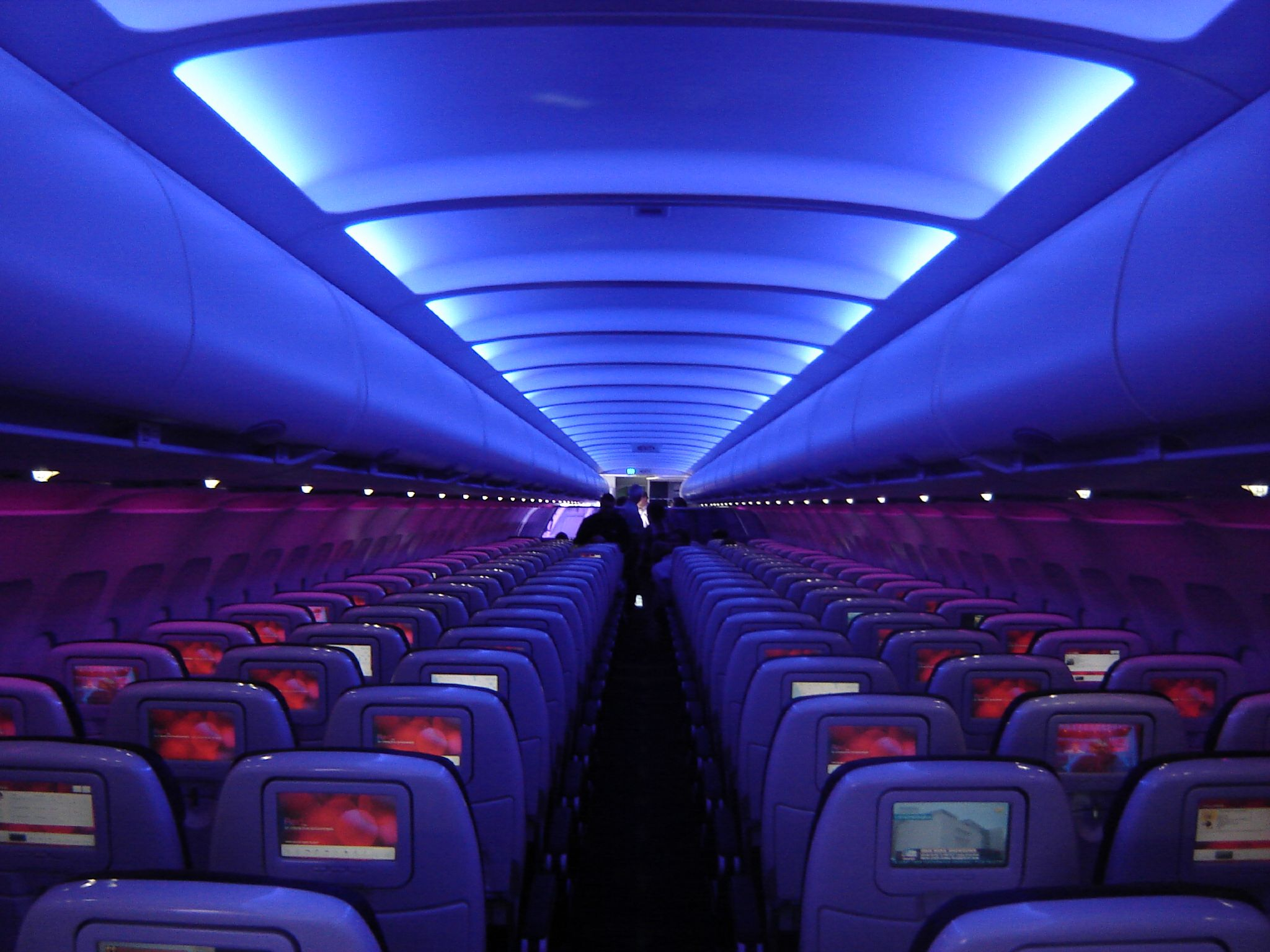 "Virgin America ""mood-lighting"""