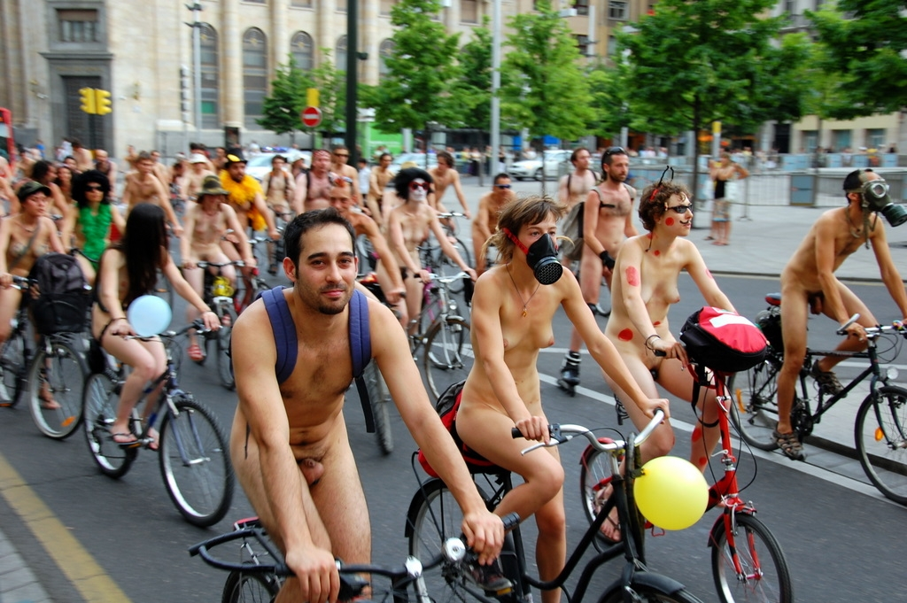 World Naked Bike Ride in Saragossa