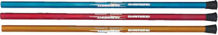 Three Warrior Diamond attack length sticks for men's lacrosse