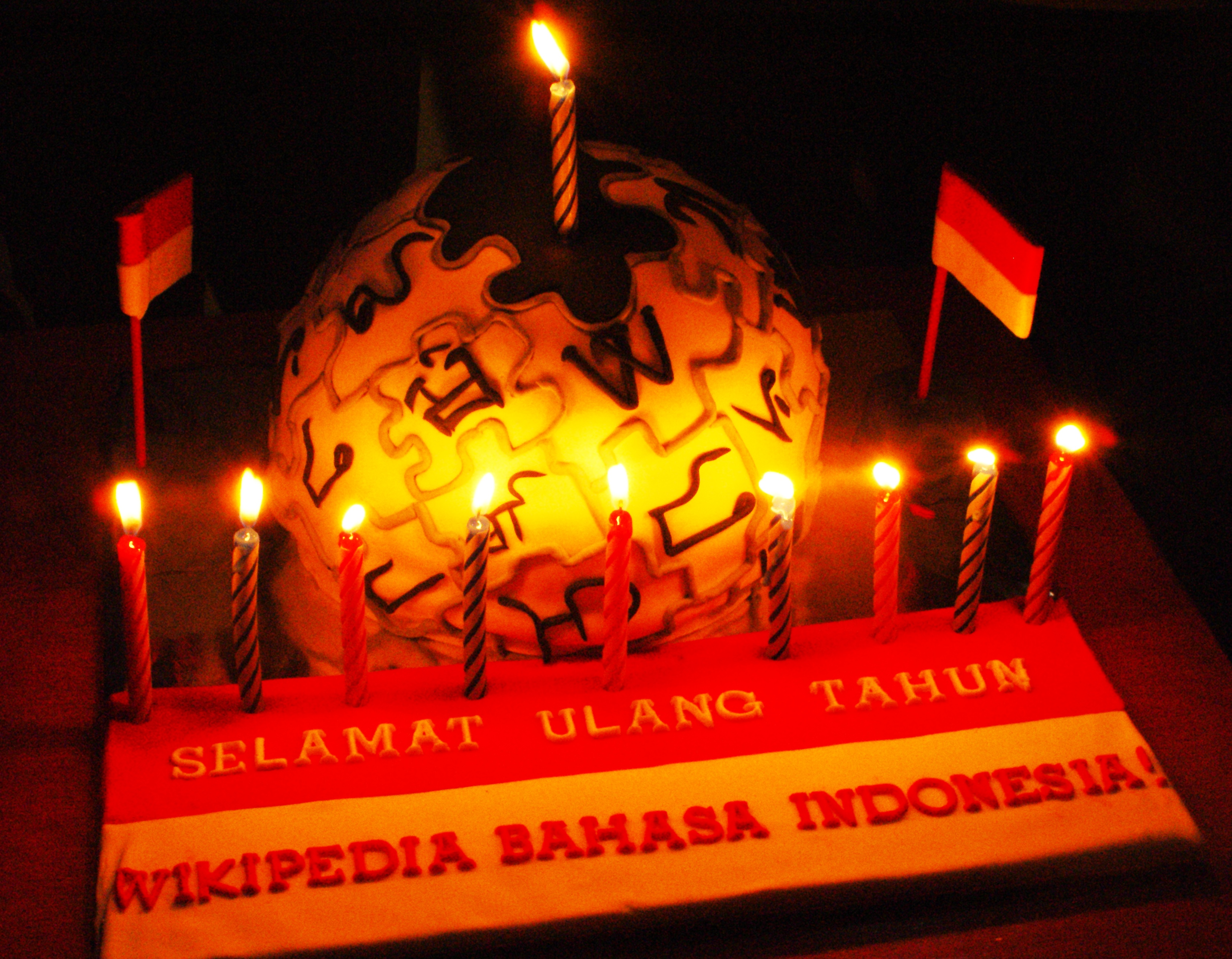 FileWikipedia Indonesia birthday cakeJPG Wikimedia Commons