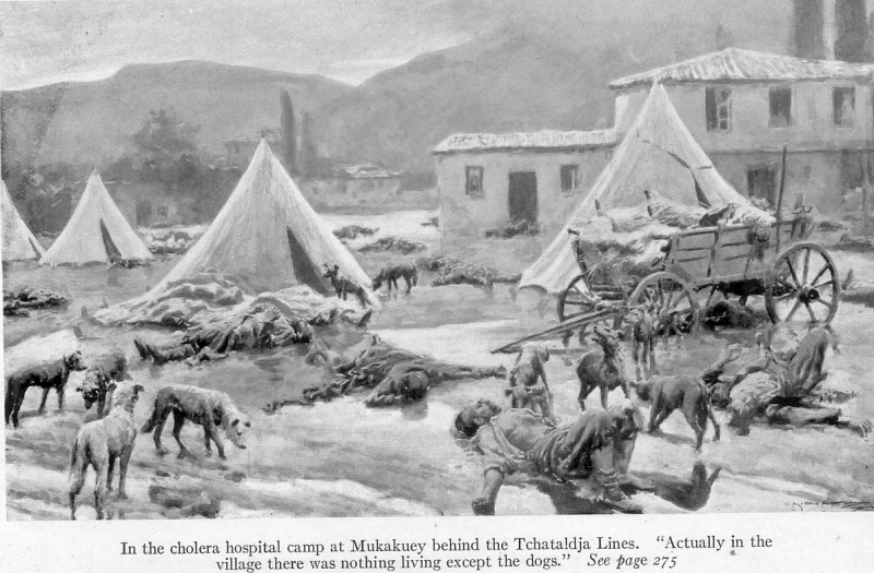 With the conquered Turk (1913) Hospital Campt at Mukakucy.png
