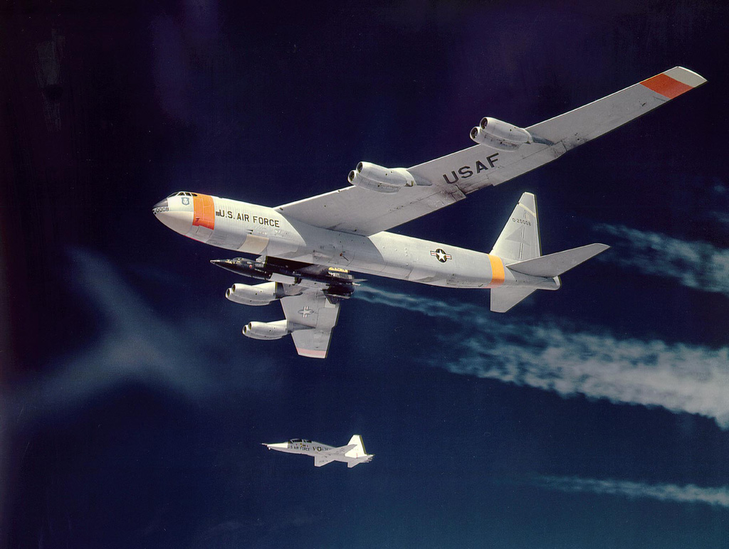 X-15 riding on its drop-ship