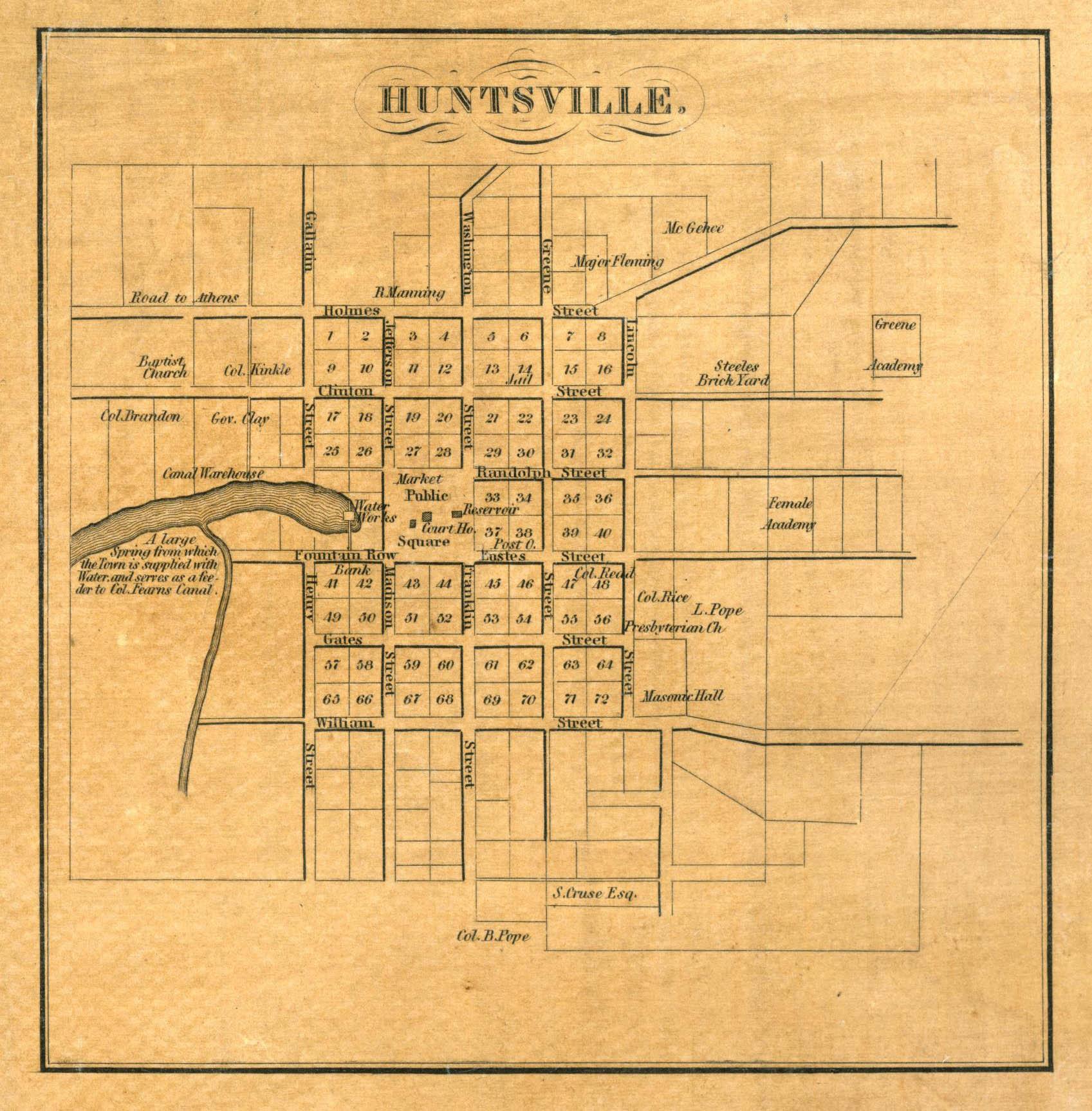 File:1840 Map of Huntsville, Alabama.jpeg - Wikimedia Commons